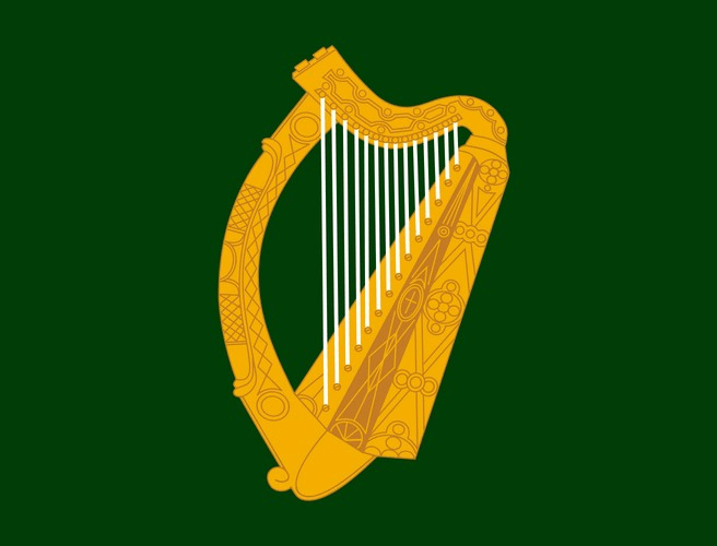Image result for irish flag harp