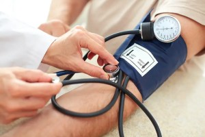 Blood pressure is measured in this way. Photo: Fort George G. Meade Public Affairs Office