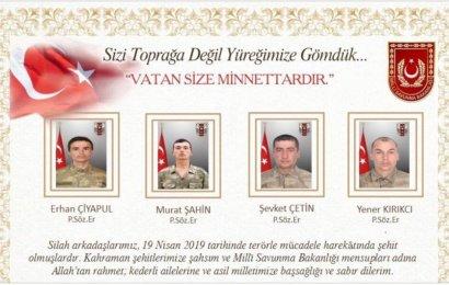 Hakkari'den Acı Haber Geldi 4 Askerimiz Şehit Düştü