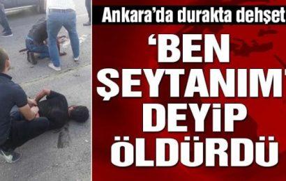 Ankara'da Otobüs Durağında Dehşet…!