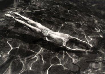 André Kertész. Underwater Swimmer, Esztergom, Hungary 30 June 1917. The Sir Elton John Photography Collection. © Estate of André Kertész/Higher Pictures