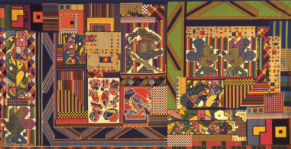The Whitworth Tapestry, 1967, Wool, Linen and Terylene, Courtesy The Whitworth, University of Manchester, © Trustees of the Paolozzi Foundation.