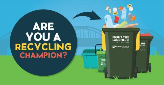 HCC's game to learn recycling