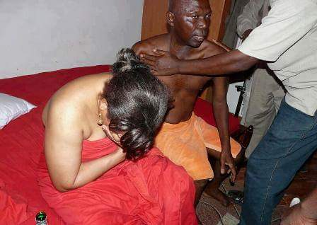 Husband catches wife having sex