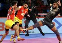 gujarat fortunegiants thrilling win against u mumba in pro kabaddi league