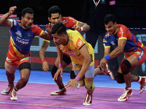 telugu titans up yodha match ending as draw in pro kabaddi league 2018