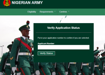 Shortlisted Candidate for Nigerian Army 2018
