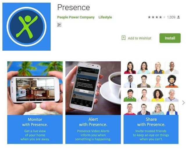 Using Presence App As a Security Camera
