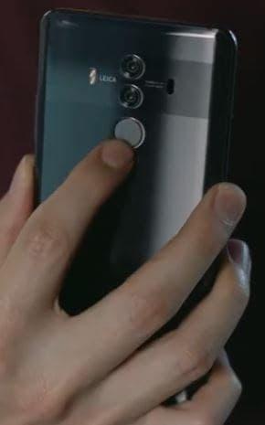 Huawei Mate 10 Pro Fingerprint Reader