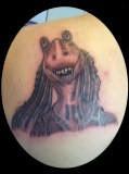 Jar Jar Binks Tattoo of Star wars - Tatouage Jar Jar Binks de Star Wars