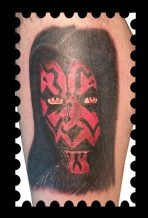 Dark Maul of Star Wars tattoo - Tatouage Dark Maul de Star Wars