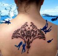 Stingray & Turtle tribal tattoo - Tatouage Tirbal Raie & Tortue