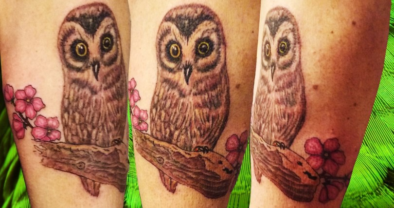 Owl tattoo - Tatouage Chouette