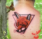 Fox tattoo spine - Tatouage Renard Dos
