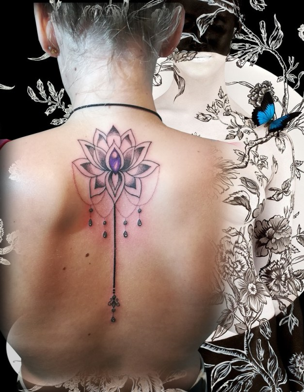 Mandala lotus tattoo - France (40)