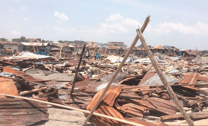 Lagos demolishes shanties, illegal structures