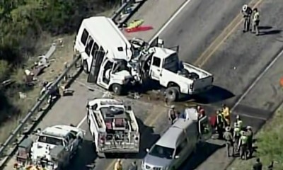 Thirteen dead in Texas church bus crash