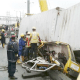 Lagos container crash: Call of nature saves boy, conductor from death