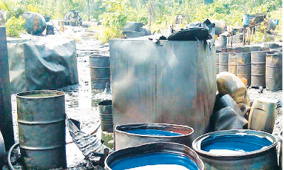 How military destroyed 46 illegal refineries