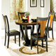 Round/oval dining table, a great fit for narrow space