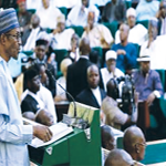 President Muhammadu Buhari presenting the 2018 budget to the National Assembly