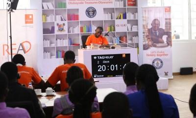 Olubayode breaks longest reading marathon record