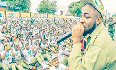 Davido leaves NYSC camp, travels to U.S. for concert
