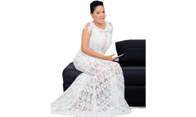 Toyin Abraham pampers self with new Mercedes Benz