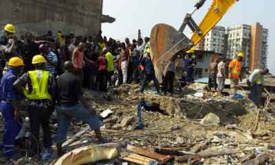 BREAKING:  5 rescued, 17 trapped as 2-storey shopping complex collapses in Ibadan