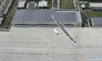 Chinese firm launches solar-powered unmanned aircraft