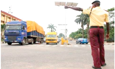 Lagos traffic law:  A new job for the boys