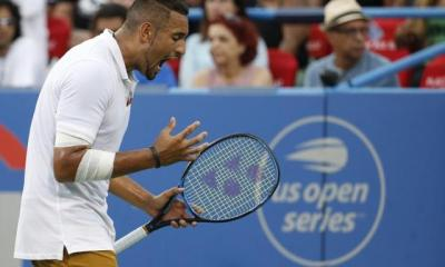 Tennis: Kyrgios serves up a show to down Tsitsipas in Washington