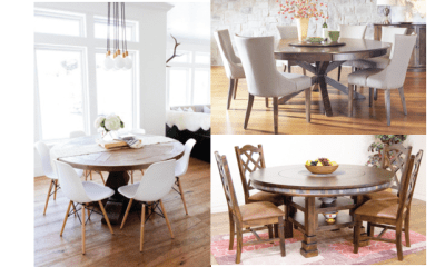 Cosy round table for dining that lacks space