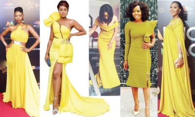 Glow gorgeously in yellow dress