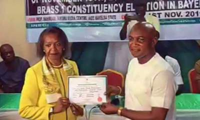 Bayelsa decides: INEC gives Lyon Certificate of Return