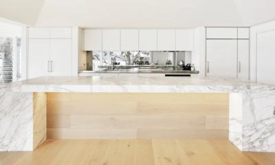 Kitchen spells luxury with marble