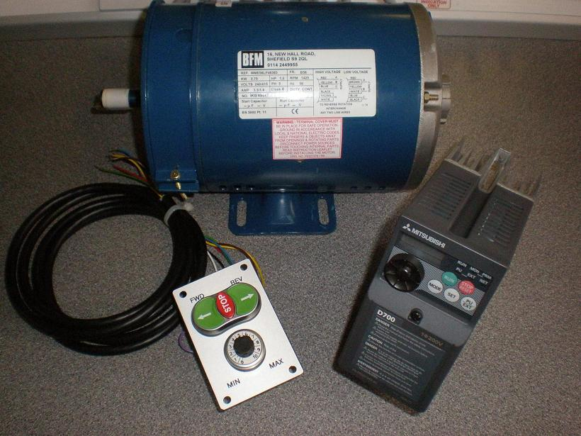 Union Graduate Speed control package, 1.0HP, with 83x110mm Switch Plate and Imperial Motor