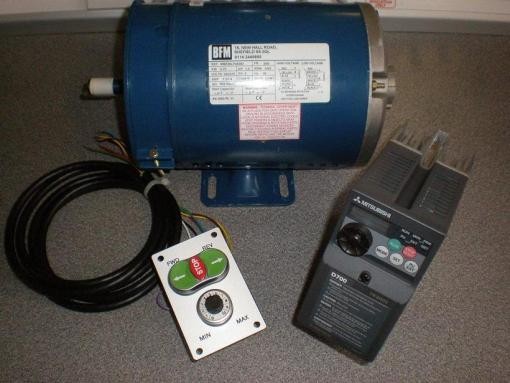 Union Jubilee Speed control package, 1.0HP, with 60x100mm Switch plate and Imperial B56 Motor.