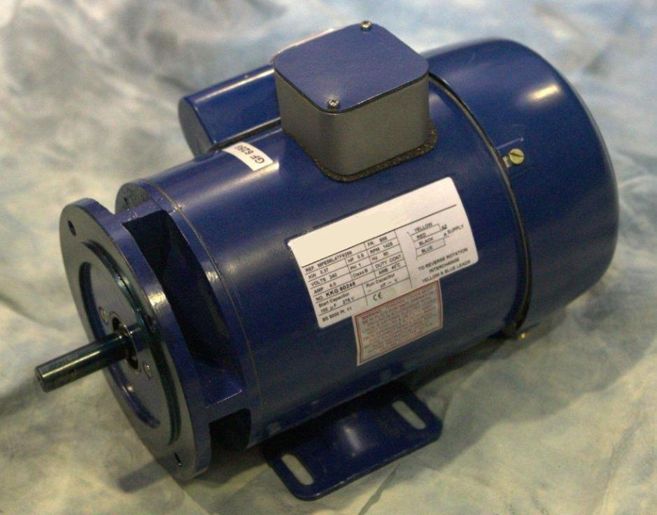 0.37kW, 1/2HP  220V/415V Three Phase, 2-pole, Totally-Enclosed-Fan-Cooled, 2800revs