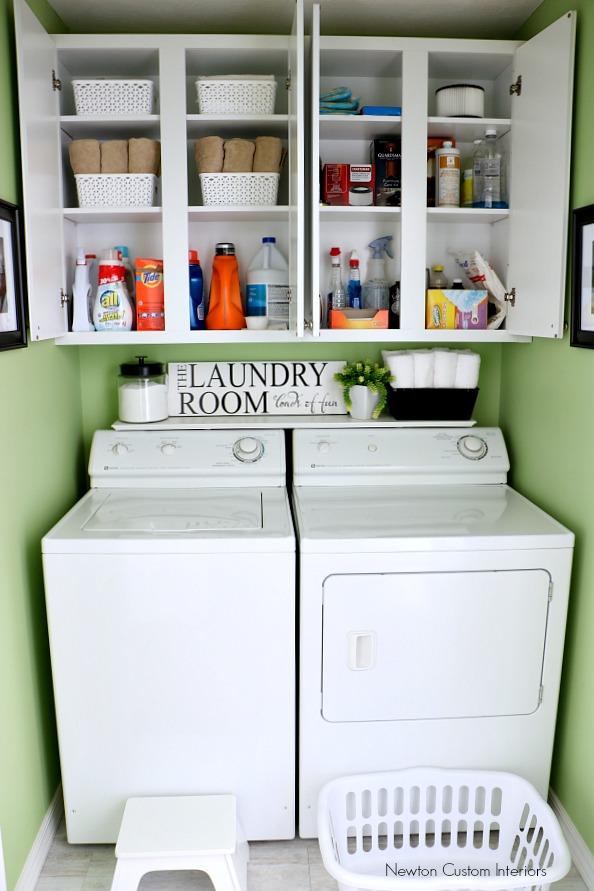Organizing A Small Laundry Room Newton Custom Interiors