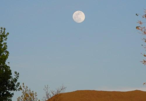 Moonrise over Reno, Nevada, NV.