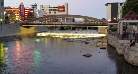New Virginia Street Bridge, Reno, Nevada, NV.