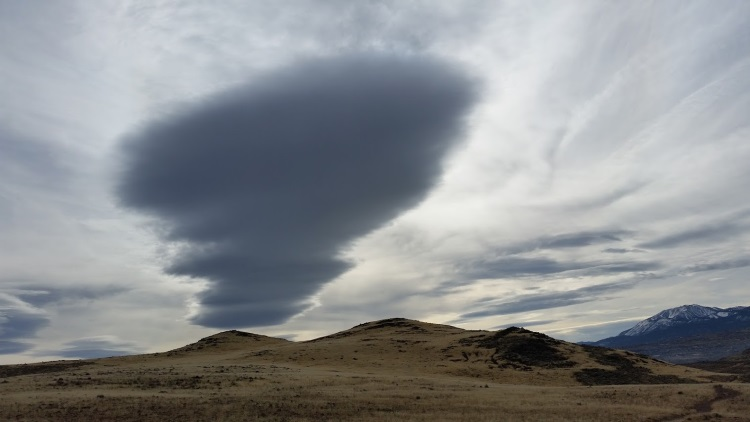 Winter clouds, Huffaker Hills, Reno, Nevada, NV.