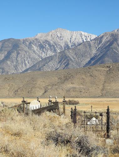 Old cemetery at Benton Hot Springs, CA