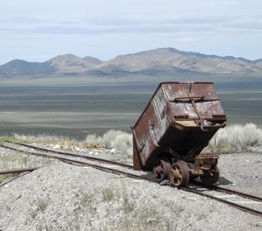 Ore cart at the Diana Mine, Berlin, Nevada, NV