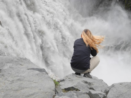 Dettifoss in Iceland. Most powerful waterfall in Europe.