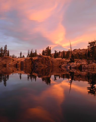 Sunset at Lake of the Woods, Desolation Wilderness.