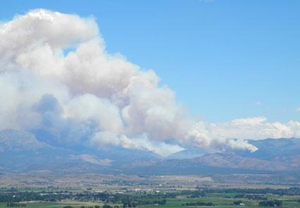 Bison Fire east of Minden, Nevada, NV