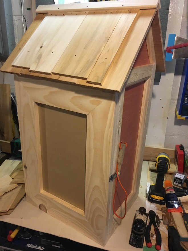 Mostly-finished little free library.