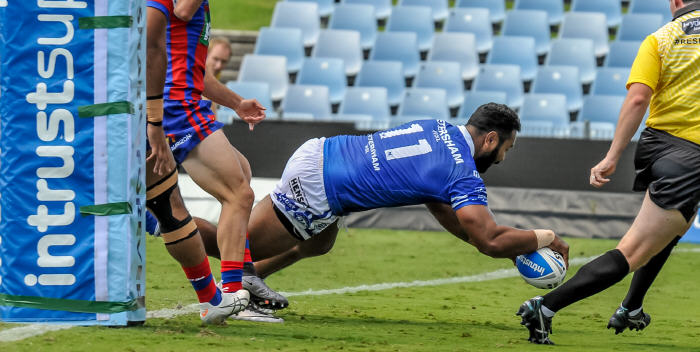 Newtown fans will be hoping T-Rex bags a few more 'meat pies' this Saturday when the Jets fly to Auckland to the take on top of the table NZ Warriors. Photo: Gary Sutherland Photography